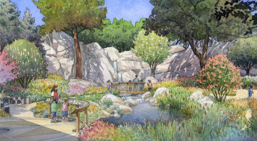 Rendering of the Human Nature Garden